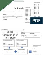 VE014 sheets