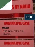 Cases of noun