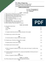 Model Examination -CS8251-Programming in C (CSE&IT)