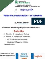SEMANA 9 TEORÍA Relación precipitación – escorrentía