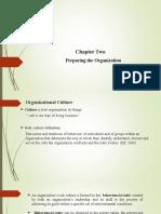 Chapter 2- PREPARING THE ORGANIZATION
