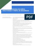 USO DE RISPERIDONA EN NIÑOS, EFECTIVIDAD Y PERFIL