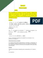 CAPITULO I MATEMATICA TEORIA DE CONJUNTOS-EJEMPLOS Y EJERCICIOS APLICATIVOS