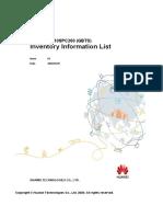 BTS3900 V100R015C10SPC260 (GBTS) Inventory Information List