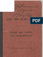 1914 GT Rules and Wages for Telegraphers