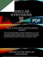 NEBULAR-HYPOTHESIS