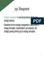 Defining Strategic Management