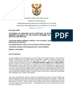 03 August 2020 Minister Mthethwa Briefing Notes