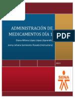 ADMINISTRACIÓN DE MEDICAMENTOS DÍA 1