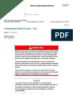 D8T Presiones de transmision