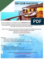 Resort Doctor & Nurse Job Vacancy at ROBINSON Club Maldives -