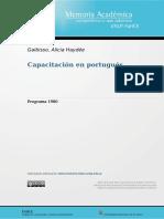 Programa Capacitación en portugués-1980
