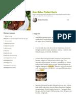 Resep Ikan Bakar Pedas Manis oleh Rindy Chandra - Cookpad