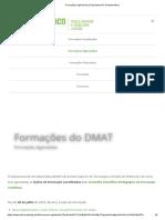 Formações Agendadas _ Departamento de Matemática