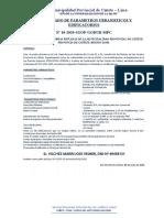 Certificado de Parametros