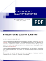 01 Introduction to Quantity Surveying