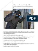 Classi Di Sicurezza dei serramenti