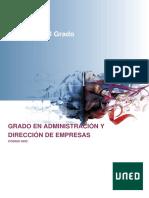 Guía de Grado Administración y Dirección de Empresas (UNED)