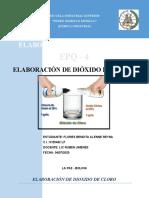 ELABORACION DE DIOXIDO DE CLORO