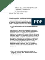 ...ACTIVIDAD ANÁLISIS DE LA NOTICIA PRESENTADA POR DIFERENTES MEDIOS DE COMUNICACIÓN.docx