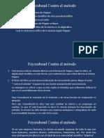 Epistemología Feyerabend Contra el método