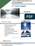 Unit I - CloudComputing