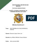 EDP PARABOLICA CON DIFERENCIAS FINITAS-convertido