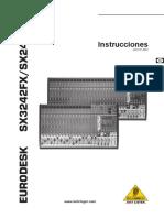 Behringer SX3242 Manual Es