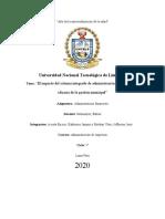 El impacto del sistema integrado de administración financiera en la eficacia de la gestión municipal