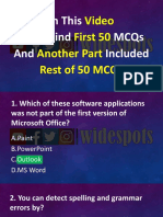 Computer and ms office first 50 mcqs part 1 pdf