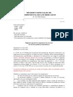 Apuntes RÉGIMEN ESPECIALES DE COMPETENCIA DE LOS MERCADOS