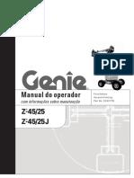 Manual de operação de plataforma