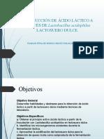 PRODUCCION DE ACIDO LÁCTICO