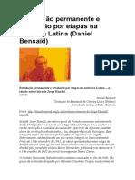 Revolução permanente e revolução por etapas na América Latina