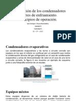 Clasificación de los condensadores y torres de enfriamiento