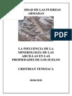 LA INFLUENCIA DE LA MINEROLOGÍA DE LAS ARCILLAS EN LAS PROPIEDADES DE LOS SUELOS