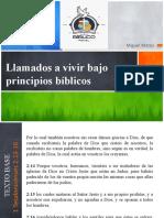 Llamado Bajo los Principios Biblicos