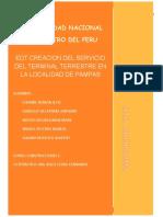 EDT TERMINAL TERRESTRE EN LA LOCALIDAD DE PAMPAS
