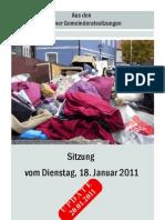 Gemeinderatssitzung v. 18.01.2011