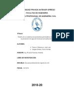 Modelo de informe sobre pavimentos permeables