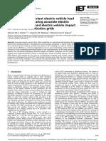 Multistage time-variant EV load modelling for capturing EV behaviour