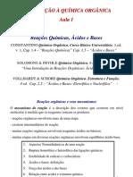 Aula 1 - Rea__es qu_micas, _cidos e Bases, mecanismos