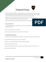allegiant financial group taxchecklist