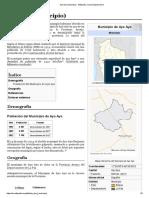 Ayo Ayo (municipio) - Wikipedia, la enciclopedia libre
