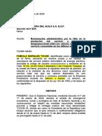 ELECTRIFICADORA DEL HUILA S.A. E.S.P. RECLAMACIÓN ADMINISTRATIVA