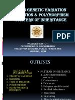 Lecture 12-Human Genetic Variation  Pattern of Inheritance-Dr. Pramudji Hastuti, Apt., MS (2020)