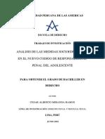 ANALISIS DE LAS MEDIDAS SOCIOEDUCATIVAS EN EL NUEVO CODIGO DE RESPONSABILIDAD PENAL DEL ADOLESCENTE