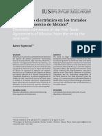 El comercio electrónico en los tratados de libre comercio de México