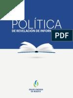 Política de revelación de información