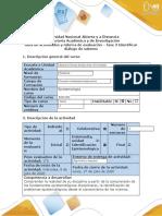 Guía de actividades y rúbrica de evaluación - fase 3  Identificar diálogo de saberes
